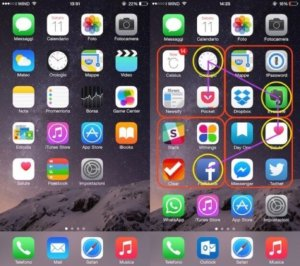 schermata smartphone